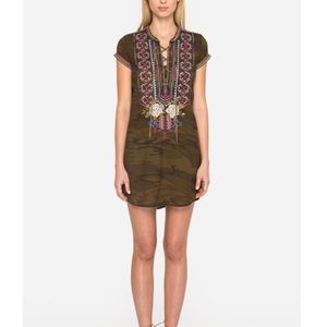 NWT Johnny Was Ronnie lace-up tunic dress